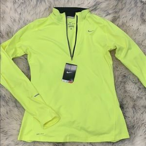 Nike dri-fit half zip jacket